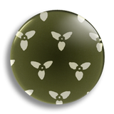 Japanese Floral Green 25mm Badge