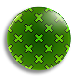 Crossed 25mm Badge