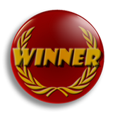 Winner Award School Badge 25mm