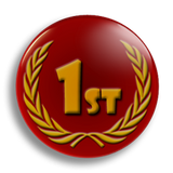 1st Place Award School Badge 25mm