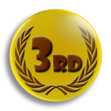 3rd Place Award School Badge 25mm