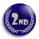 2nd Place Award School Badge 25mm