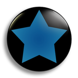 Blue Star Badge 25mm