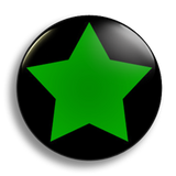 Green Star Badge 38mm