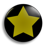 Yellow Star School Badge 25mm