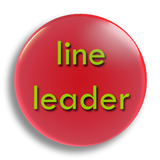 Line Leader Badge 55mm