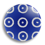 Indian Blue Pattern 25mm Badge