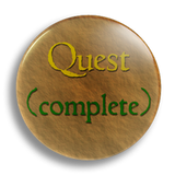 Quest Complete 25mm Badge