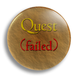 Quest Failed 25mm Badge