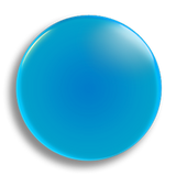 Light Blue Badge 55mm