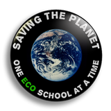 Eco Saving The Planet School Badge 25mm