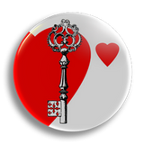 Key To My Heart 25mm Badge