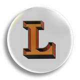 L is for Love 25mm Badge