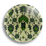 Green Floral 25mm Badge