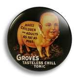Fat As Pigs, Vintage Ad 25mm Badge
