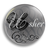 Usher Wedding Badge 25mm
