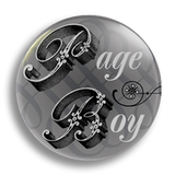 Page Boy Wedding Badge 38mm