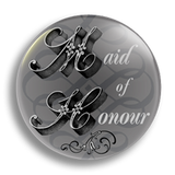 Maid of Honour Wedding Badge 25mm
