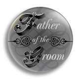 Father of the Groom Wedding Badge 25mm