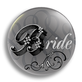 Bride Wedding Badge 38mm