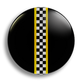 Racing Checker 25mm Badge