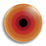 Orange Concentric 25mm Badge