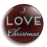 I Love Christmas 25mm Badge