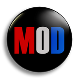 Mod Tricolour 25mm Badge