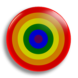 Rainbow Roundel, 25mm Badge
