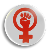 Second-wave Feminism, 25mm Badge