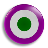 Suffragette Roundel, 25mm Badge