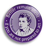 Annie Besant, 25mm Badge