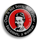 Simone de Beauvoir, 25mm Badge