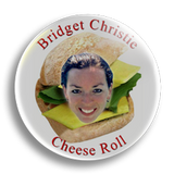 Cheese Roll, 25mm Badge
