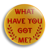 What Have You Got Me? 25mm Badge