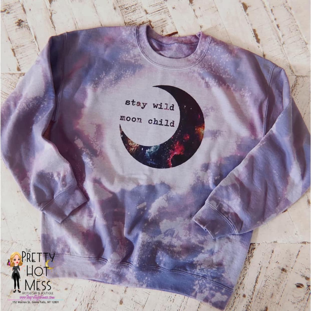 Moon Child Tie Dyed Sweatshirt