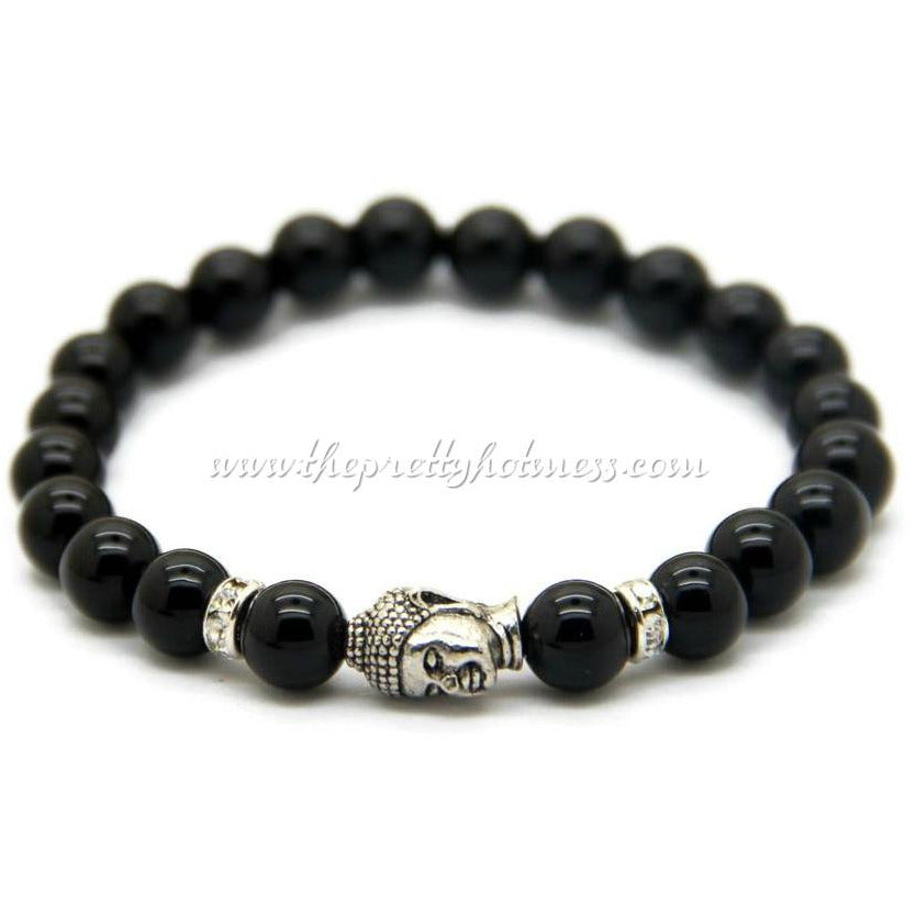 Natural Gemstone Buddha Bracelet