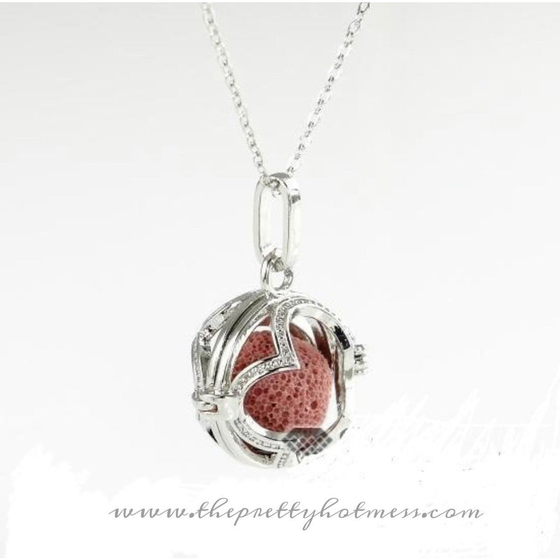Open Heart Essential Oil Necklace