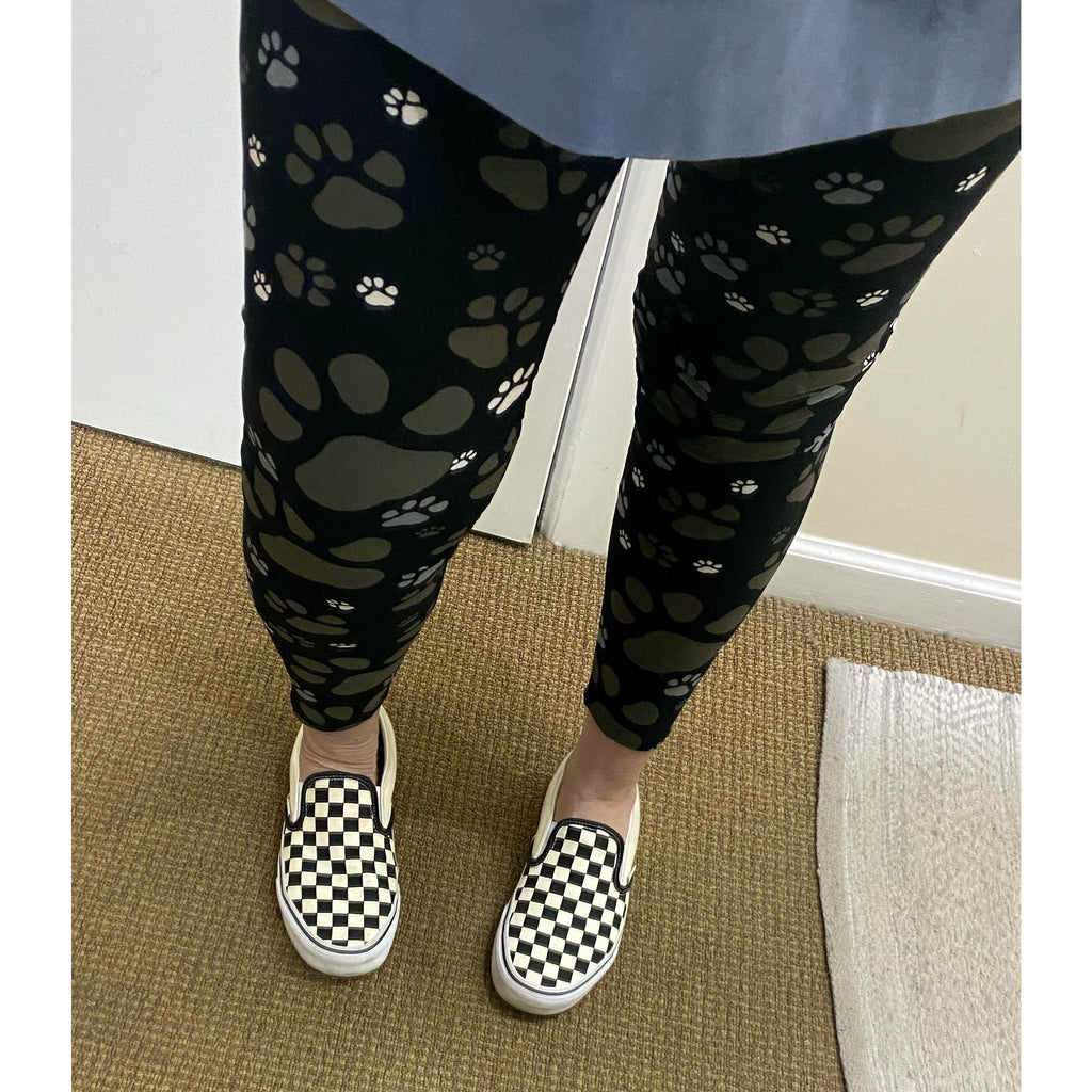 Buttery Soft Paw Print Leggings