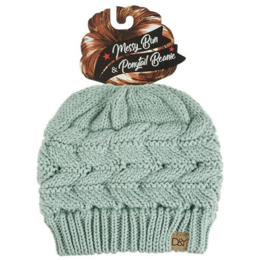 Sparkle and Shine Messy Bun Winter Hat