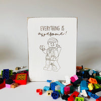 LEGO Everything is Awesome Farmhouse Sign