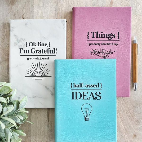 Funny Faux Leather Journals