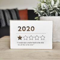 Funny 2020 Year Review Sign