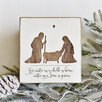 Rustic Nativity Scene 4""