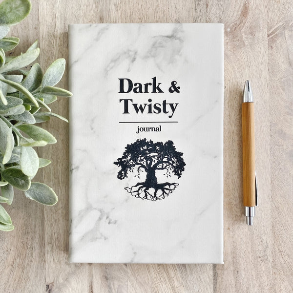 'Dark and Twisty' Faux Leather Journal