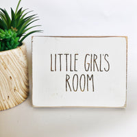Little Girl's Room Bathroom Farmhouse Sign