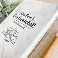 'Ok Fine, I'm Grateful!' Faux Leather Journal