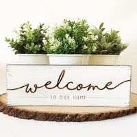 Welcome Farmhouse Sign