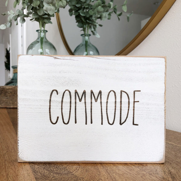 Commode Bathroom Farmhouse Sign