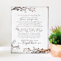 Family Tree Grief Farmhouse Sign